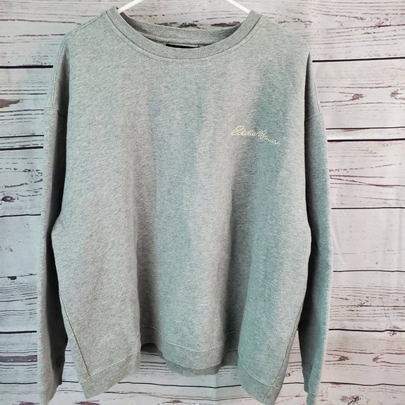 Embroidered Eddie Bauer Crewneck / Sweatshirt LG